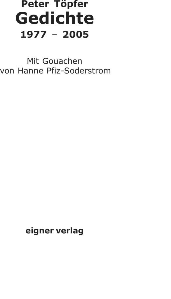 Peter Töpfer Gedichte